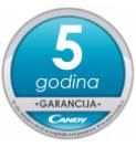 Candy - 5 godina garancije